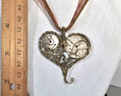 SALE - Watch and Cogs Mechanical Steampunk Heart