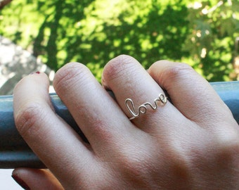 Personalizable Message Ring - gold or silver