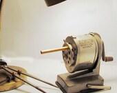 Vintage Boston Pencil Sharpener, Vacuum Table Mount