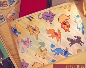 "SALE!! 8"" Canvas Accessory Bag - Eeveelution Inspired Design"