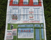 Vintage Martex Dry-Me-Dry Dish/Tea Towels Mid Century French Cafe' Martex Hand print