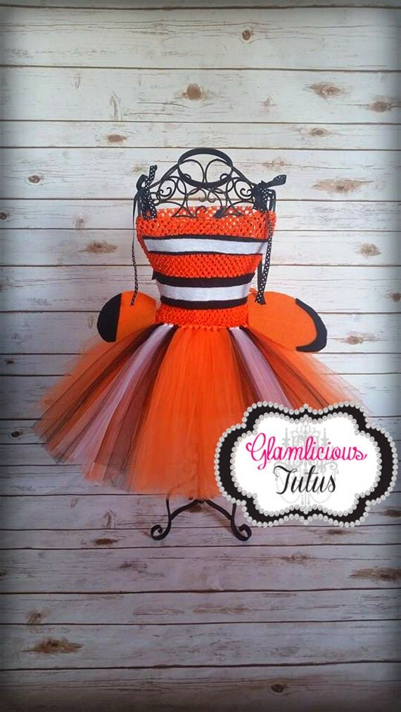 Clown fish costume clown fish tutu dress fish by for Clown fish costume