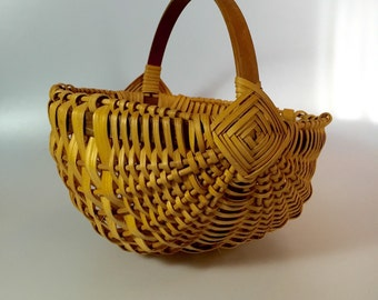 Hand Woven Signed Gathering Basket