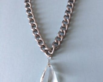 Antique crystal necklace