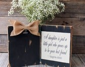 a daughter is just a little girl who grows up to be your best friend  quote thank you wedding gift mother of the bride for parents