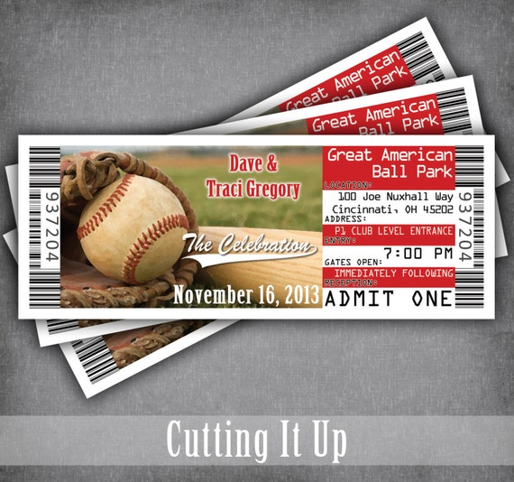 like this item - Baseball Wedding Invitations