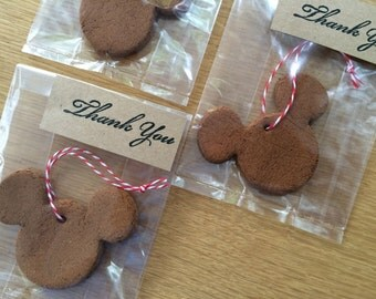 Mickey Mouse Party Favors, Mickey Mouse, Minnie Mouse Ornaments, Set of 10
