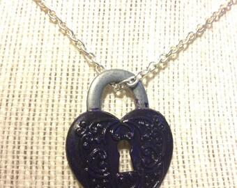 "20"" Violet Lock Necklace"