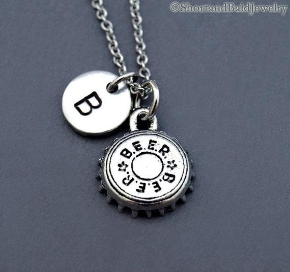 Beer cap necklace beer bottle cap bottle cap necklace for Beer cap jewelry