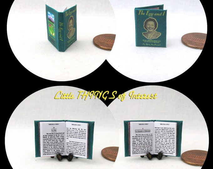 The EGG and I, by Betty MacDONALD Miniature Book Dollhouse 1:12 Scale Readable