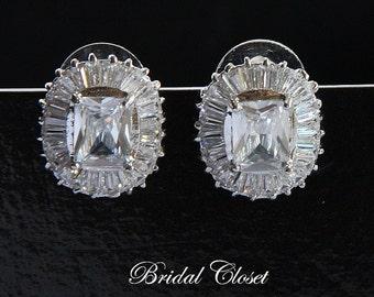 Bridal Earrings, Bridal Crystal Stud Earrings, Bridal Earrings Crystal, Bridal Studs, Swarovski Earrings, Wedding Earrings, Crystal Earrings