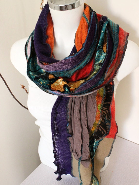 Multi colored scarf handmade big size moher men