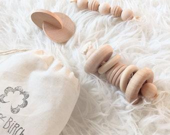 Wood Baby Toys - Newborn Baby Gift - Modern Toys - Montessori Baby Gift Set - Baby Shower Gift - Wooden Toys  - Newborn Gift Set