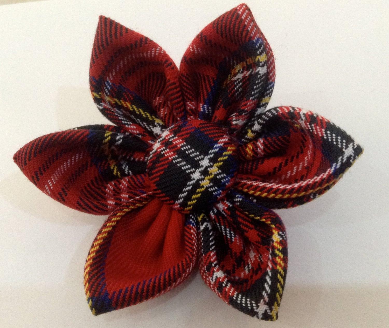 Scottish Tartan Fabric Brooch