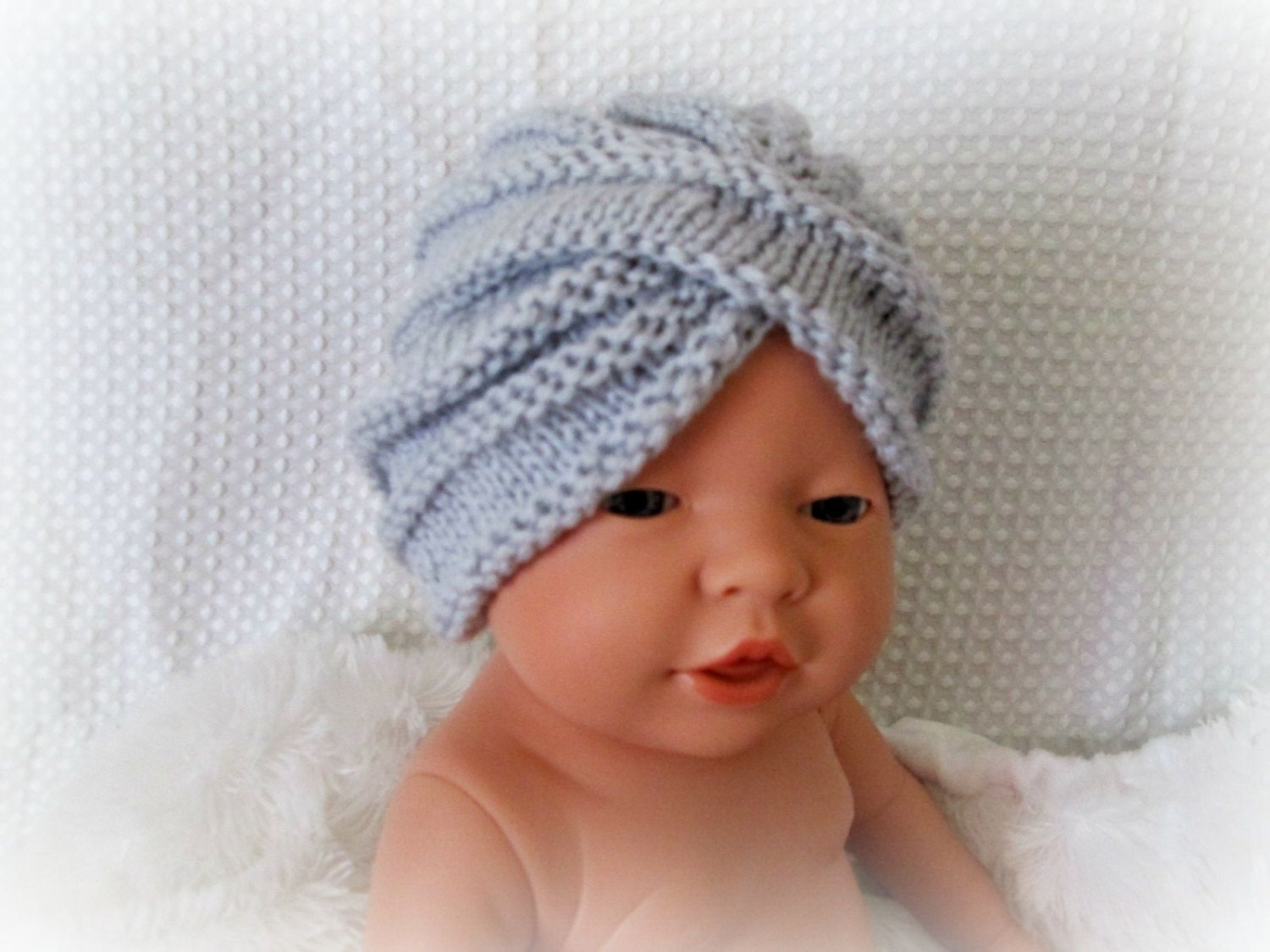 Knitting Pattern For Baby Turban : Infant knit baby boy turban crochet baby turban crochet baby