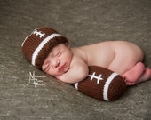 Mini Football - Newborn Football Set - Newborn Football Hat - Baby Football Outfit - Baby Shower Gift - Newborn Gift Idea - Newborn Props