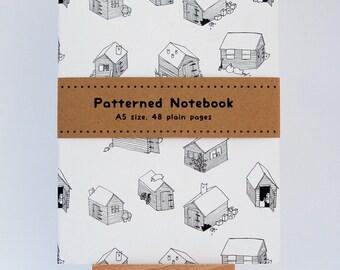 Cats on Sheds Patterned A5 Notebook