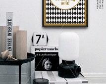 Never Been a Millionaire || geometric art print, modern minimalist, black and gold, Kate Spade, quote print, chic art print, diamond
