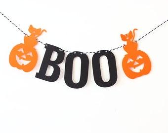 Boo Sign, Halloween Decor, Halloween Decoration, Halloween Banner, Halloween Garland, Home Decor, Halloween Party, Halloween Pumpkin