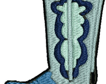 Western boot Embroidery Design