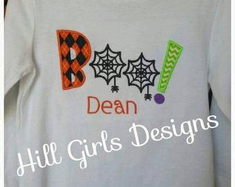 Boy's BOO Halloween shirt