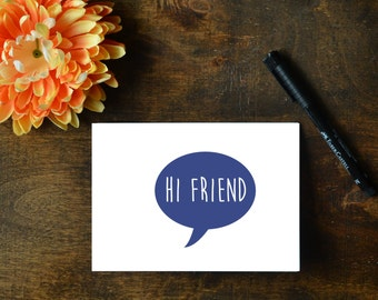 2 Hello Cards - Hi Friend and Hello - Printables
