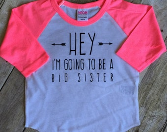 Girls big sis outfit, big sister shirt, little sister shirt, sibling shirts, pregnancy announcement shirt, baby announcement shirt