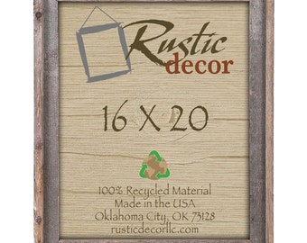 "16x20-2"" wide Rustic Barn Wood Signature Wall Frame"