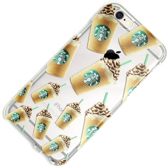 Starbucks Drink Clear Phone Case iPhone 6, 6 Plus, 6S, 5, 5C, 5S ...