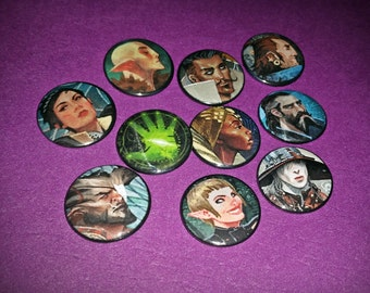 Dragon Age: Inquisition Companion Battle Icon 1-inch Buttons