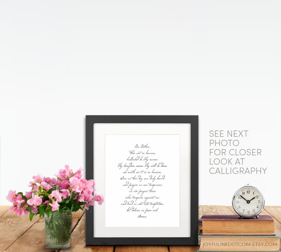 scripture art lords prayer art printable our father prayer
