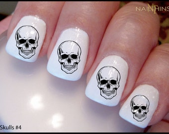 SKULLS #4 Nail Decal Skull Halloween Day of the Dead