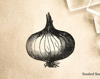 Onion Rubber Stamp - 2 x 2 inches