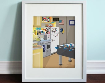 Joey and Chandler's Apartment - Friends, Friends TV Show Art Print, TV sitcom