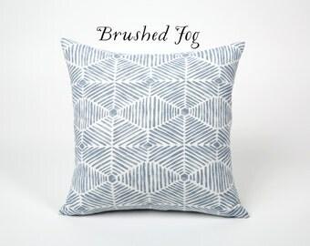 Light Blue Painterly Throw Pillow Cover 12x18 20x20 22x22 Ice Blue 14x36 blue and white pillow cover 14x36 26x26 24x24 16x26-DJ3F