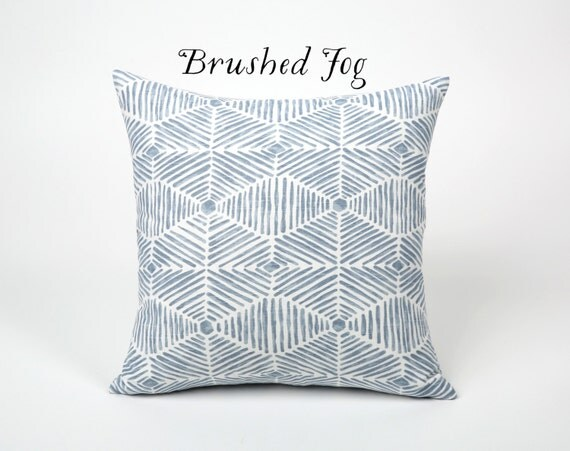 Light Blue Throw Pillow Covers : Light Blue Painterly Throw Pillow Cover 12x18 20x20 22x22 Ice