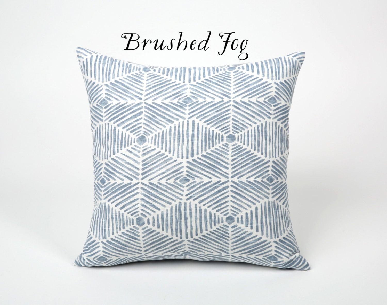 Light Blue Painterly Throw Pillow Cover 12x18 20x20 22x22 Ice