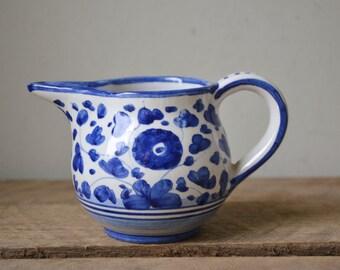 Deruta Italy Pottery Small Ceramic Creamer