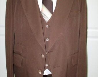 1970s Blazer, Vintage Sport Coat & Vest, 70's Jacket, 70s Blazer, Vintage Brown Blazer, Anchorman, American Hustle, Saturday Night Fever