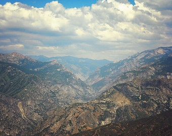 Mountain Photography, Landscape Photograph, Nature Print, Rustic Wall Decor, Sierra National Forest