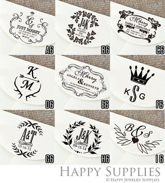 Custom Personalized Wedding Return Address / Save the Day / Party Invitation / Thank You Rubber Stamp or Pre-Inked Stamp Stamp (RP06)