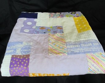 Baby Quilt with Minky Dot Backing