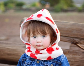 Toddler's Hooded Scarf, Fleece Hooded Cowl