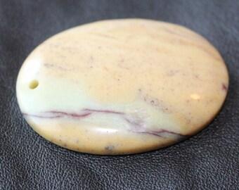 Natural, Multi Color, Amazonite Gemstone, 44x33mm Pendant Bead