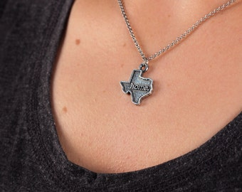 Texas Necklace - Home State Apparel Texas Home Necklace Charm, TX
