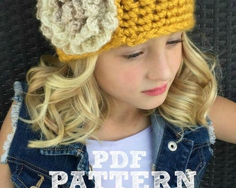 Items similar to Chunky Yarn Crochet Pattern for Bulky ...