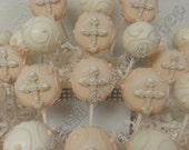 Cross Cake Pops - Christening - Baptism - First Communion - Cake Pops - Edible Favor - MaDCakePopShop