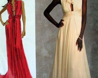 Long Designer Evening Gown Vogue 1030 Plus Size Prom Dress Wedding Bradley Mischka Sizes 14-22