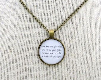 Love The One You Hold Handcrafted Pendant Necklace