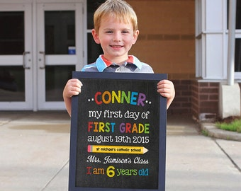 First day of school sign, School sign, Back to School sign, First day of Kindergarten, Last day of school, First day of school chalkboard